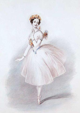 Marie Taglioni in der Titelrolle des Balletts La Sylphide (1832)