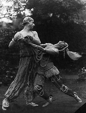 Michel Fokine und Vera Fokina in Schéhérazade, Stockholm 1914
